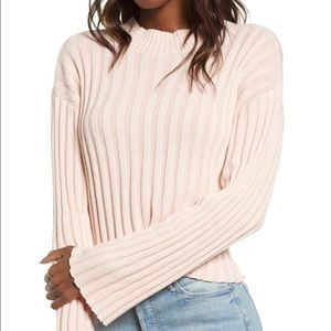 BP Pink Crew Neck Cropped Ribbed Sweater Sz 1X
